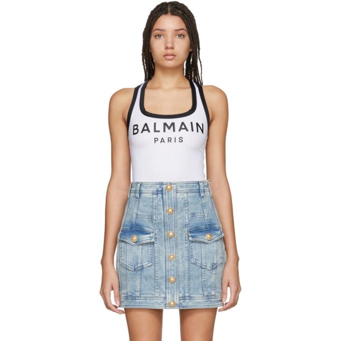 Balmain Body a logo blanc
