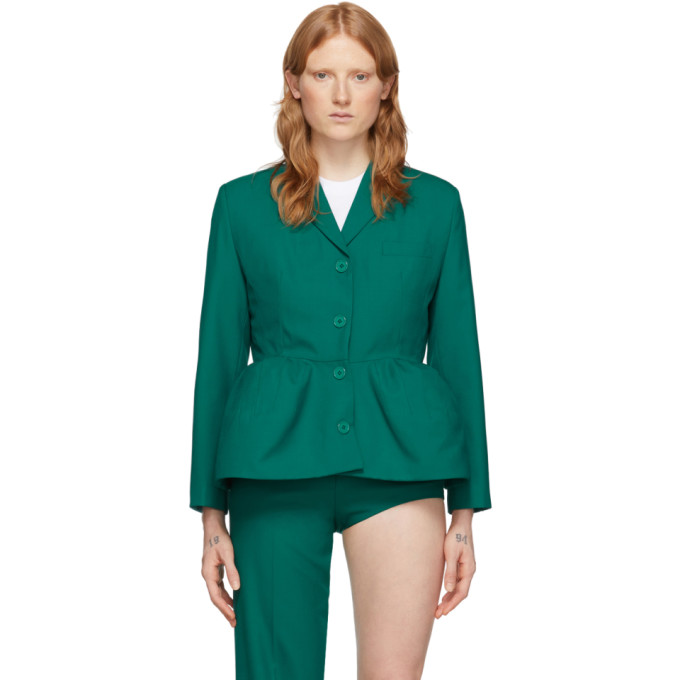 Pushbutton Blazer vert Overblown Single