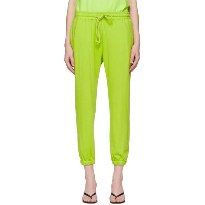Pushbutton Pantalon de survetement a logo vert