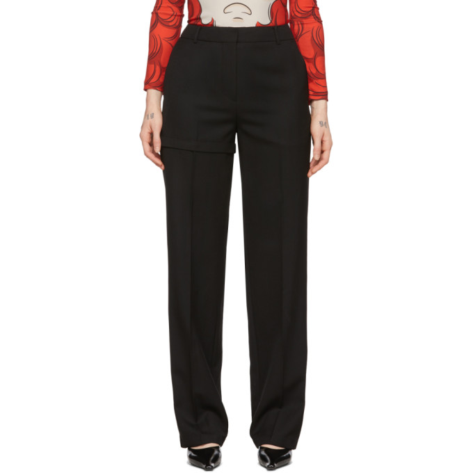 Pushbutton PUSHBUTTON BLACK TRANSFORMER TWO-WAY TROUSERS