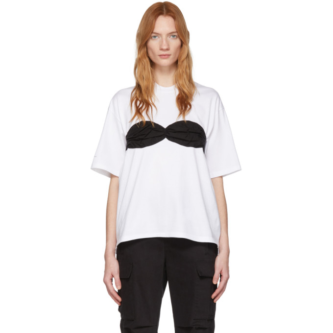 Pushbutton T-shirt blanc Bra exclusif a SSENSE