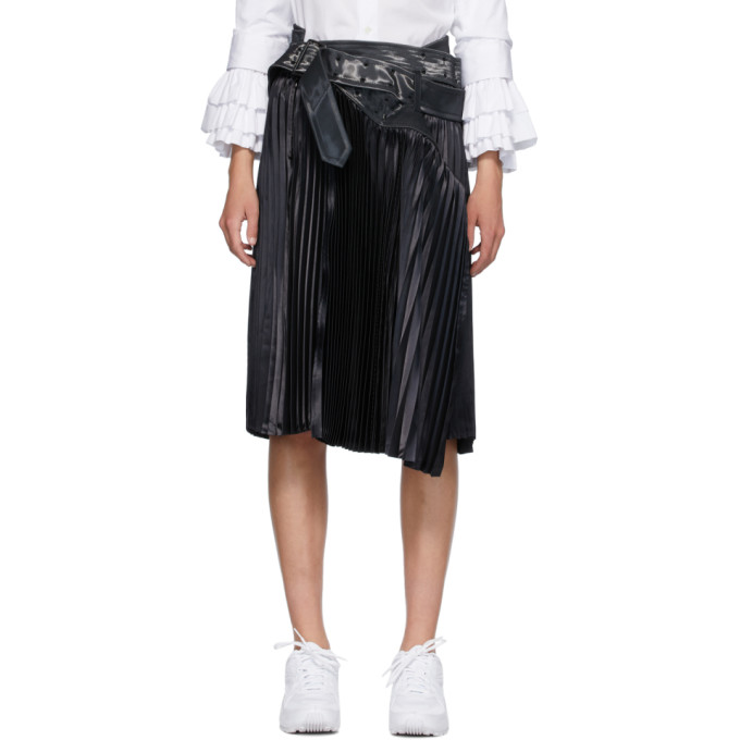 Junya Watanabe Jupe plissee noire Trench