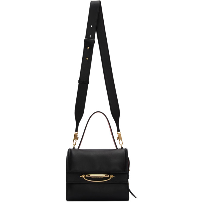 Alexander McQueen Black The Story Bag  - buy with discount