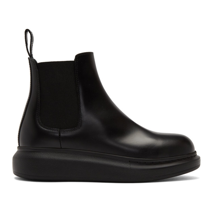Buy Alexander McQueen Black Hybrid Chelsea Boots online