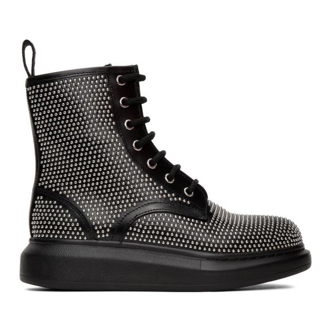 Buy Alexander McQueen Black Studded Boots online