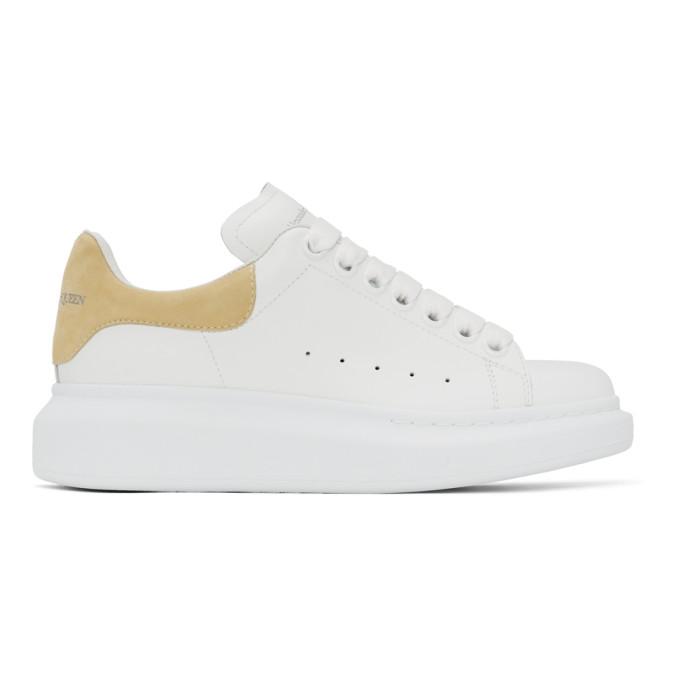 Alexander Mcqueen Sneakers ALEXANDER MCQUEEN SSENSE EXCLUSIVE WHITE AND YELLOW OVERSIZED SNEAKERS