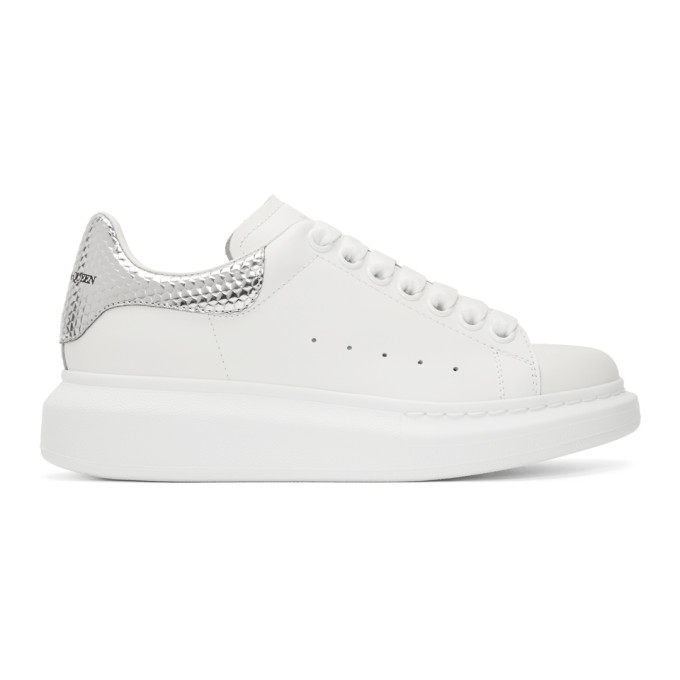 Silver Hammered Oversized Sneaker