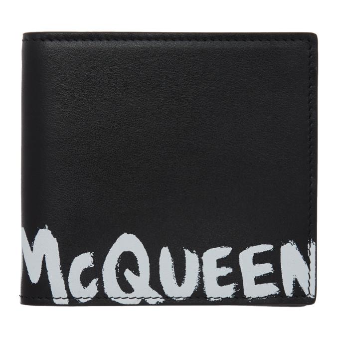 Alexander McQueen ブラック グラフィティ バイフォールド ウォレット
