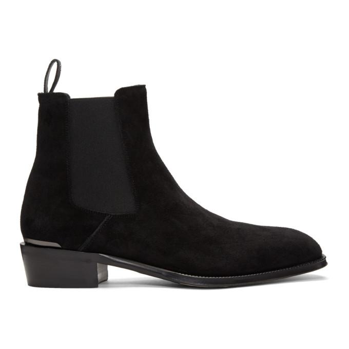 Alexander McQueen 黑色 MICM 切尔西靴