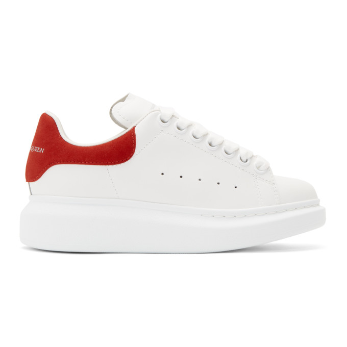 Alexander Mcqueen 'Oversized Sneaker' In Leather With Suede Collar In 9676 Red