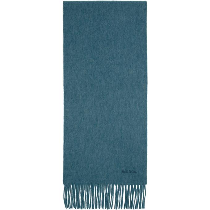 Paul Smith Foulard en cachemire bleu