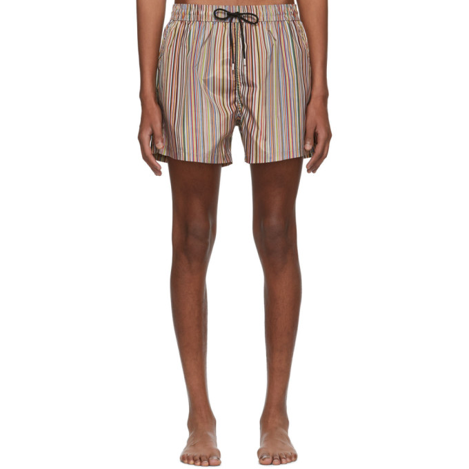 Paul Smith Maillot de bain multicolore Signature Stripe