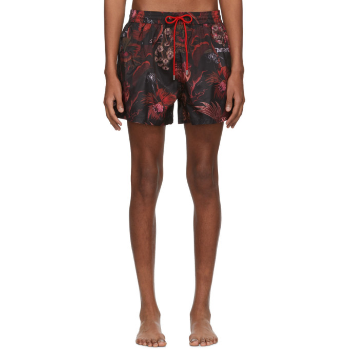 Paul Smith Maillot de bain rouge Beetle Botanical