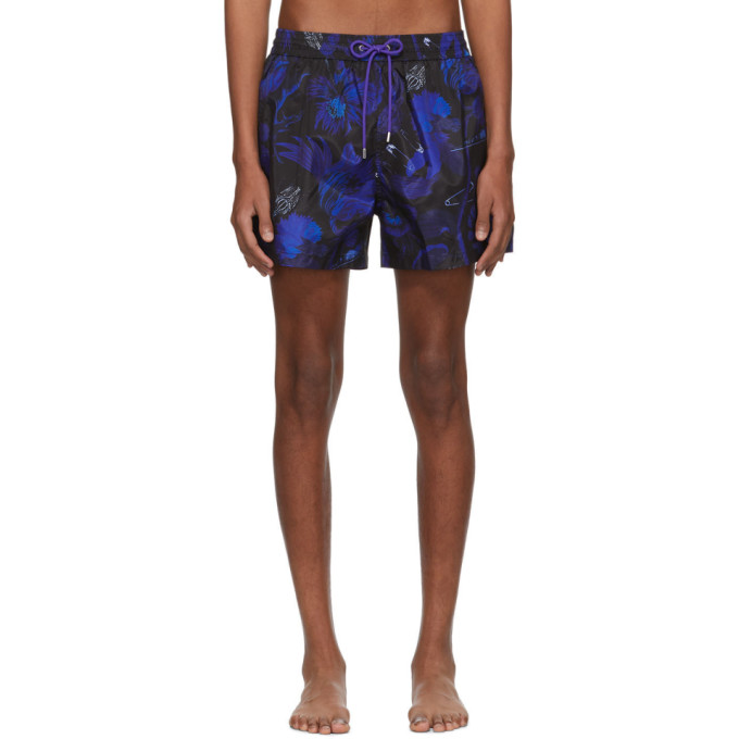 Paul Smith Maillot de bain bleu Beetle Botanical
