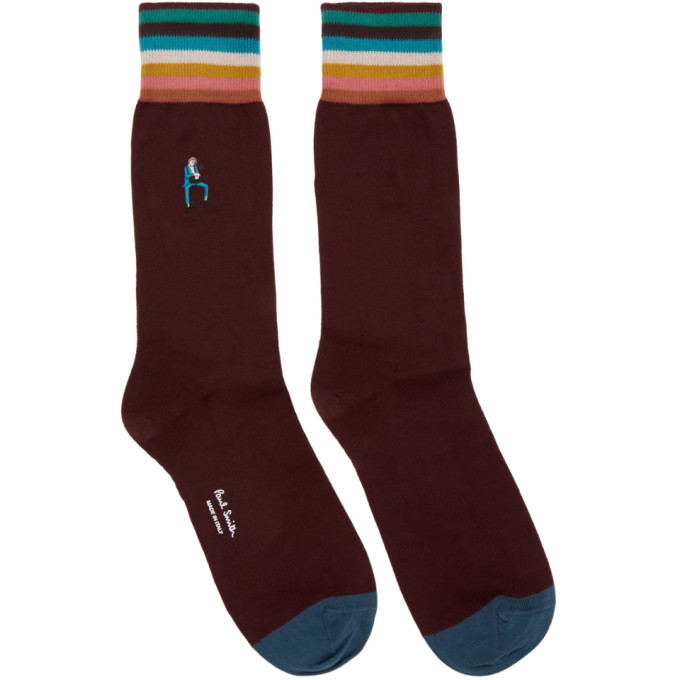 Paul Smith Burgundy Bespoke Socks