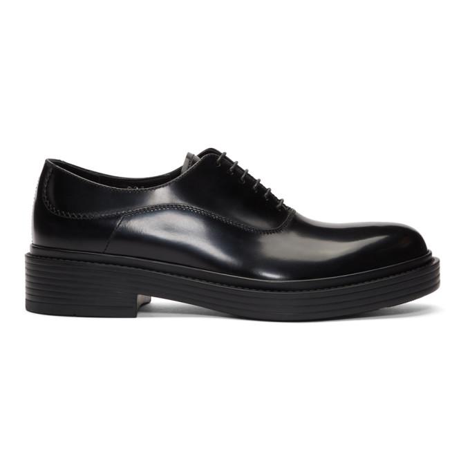 Giorgio Armani Chaussures oxford noires Vintage-Style
