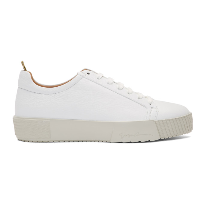 Giorgio Armani Baskets blanches Deer Lux