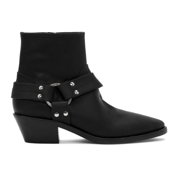 Buy Golden Goose Black Bretagne Boots online