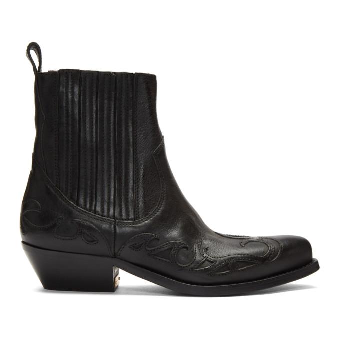 Buy Golden Goose Black Limited Edition Santiago Boots online