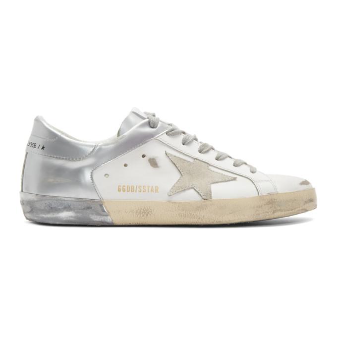 Golden Goose Superstar Sneakers in Silver