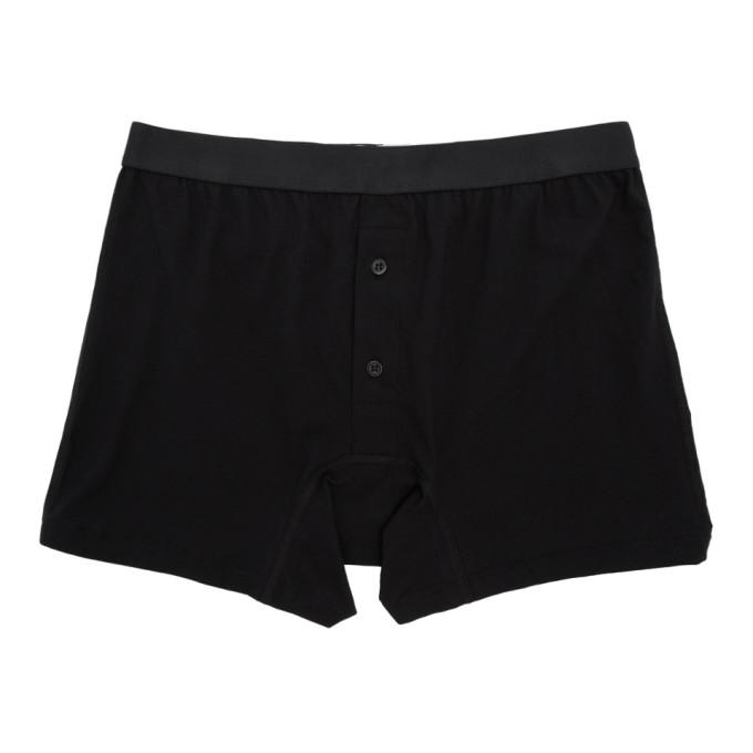 Comme des Garcons Shirt Boxer noir Fine Jersey