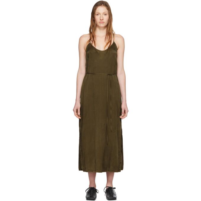 Raquel Allegra Fond de robe kaki Simple
