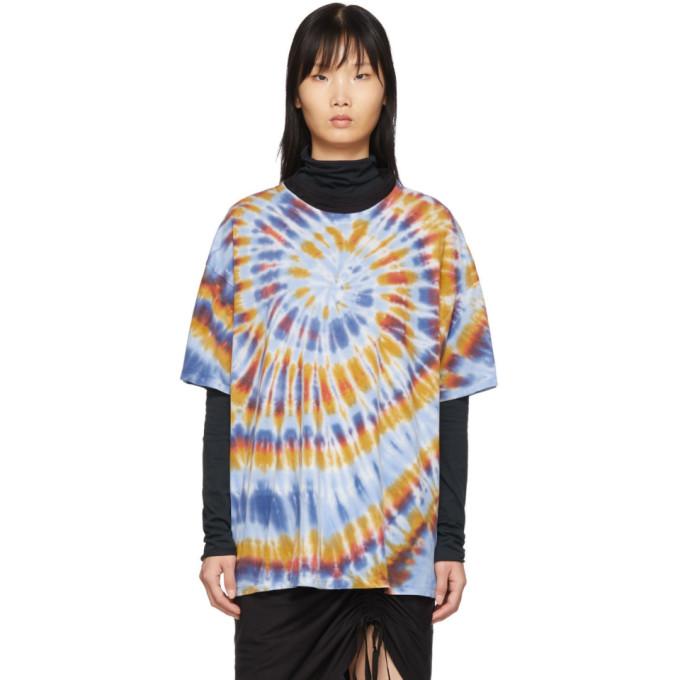 Raquel Allegra T-shirt surdimensionne a motif tie-dye multicolore