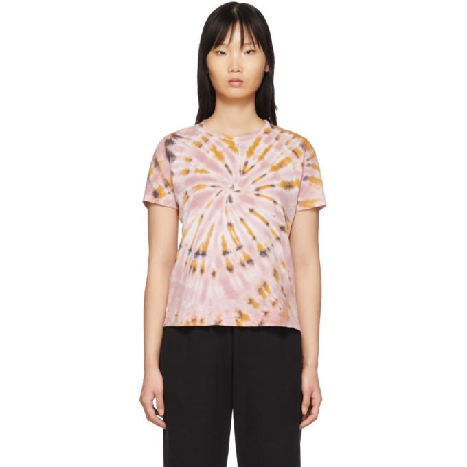 Raquel Allegra T-shirt a motif tie-dye rose Boy
