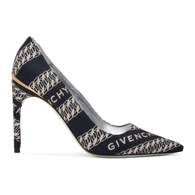 Buy Givenchy Navy and White Chain M Heels online