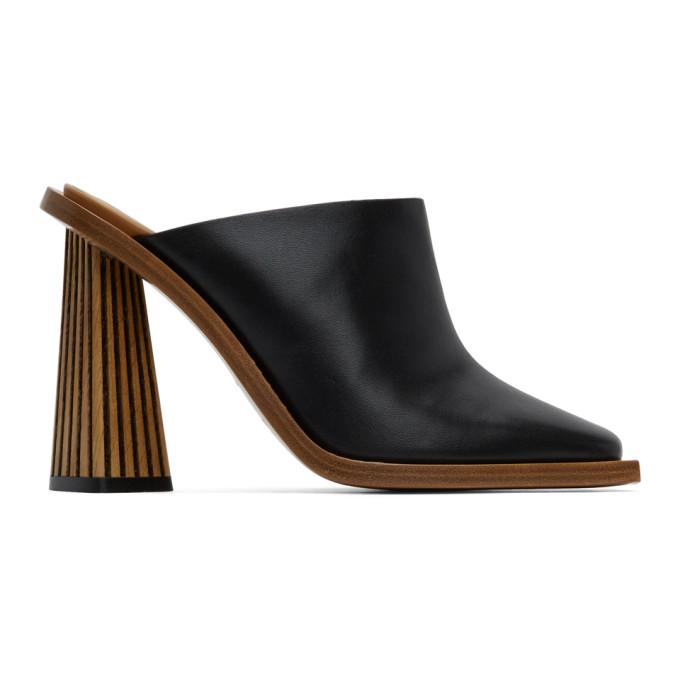 Givenchy Mules a talons hauts sculptes noires