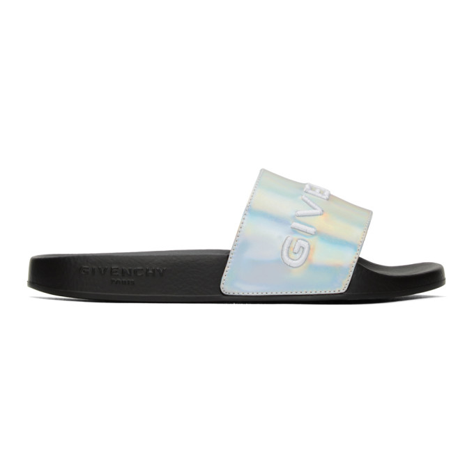 Buy Givenchy Silver Pool Slides online