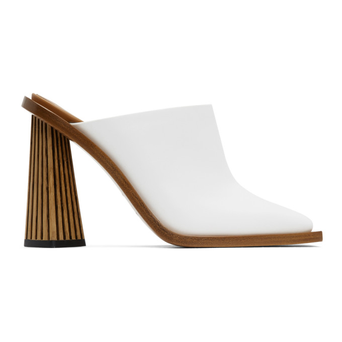 Buy Givenchy White Carved Mule Heels online
