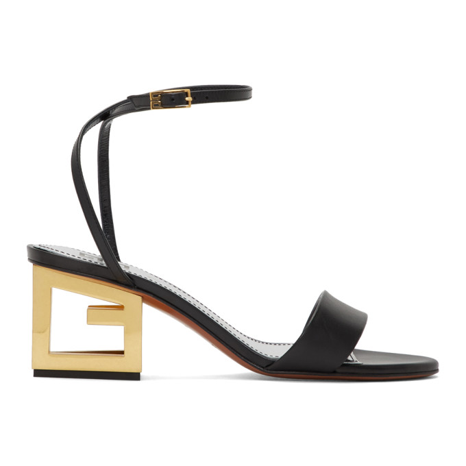 Buy Givenchy Black G Heel Sandals online