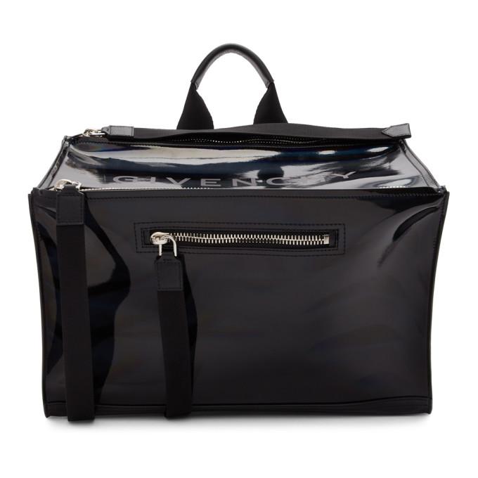 Givenchy GIVENCHY BLACK IRIDESCENT PANDORA MESSENGER BAG