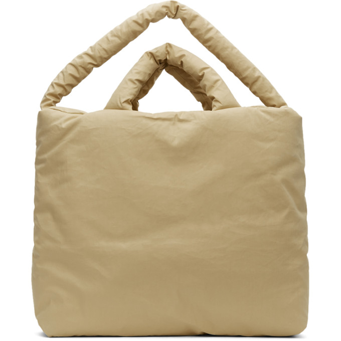 Kassl Editions Beige Large Trench Bag In 0003 Beige