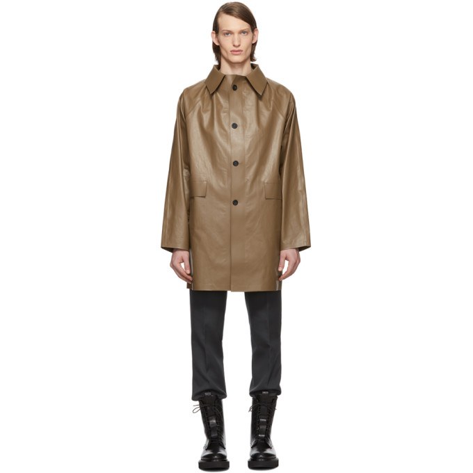 Kassl Editions Brown Above The Knee Oil Coat