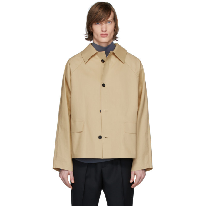 Kassl Editions Beige Original Trench Jacket In 0003 Beige