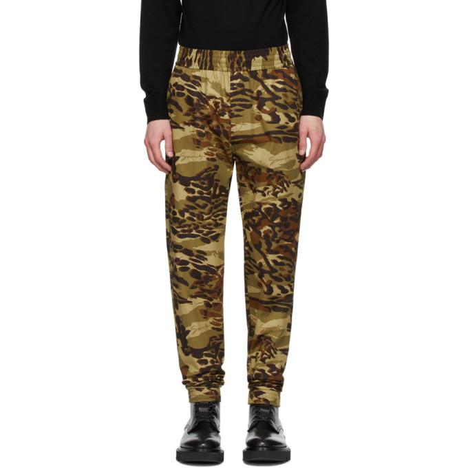 Givenchy Pantalon de survetement a motif camouflage kaki Jogger