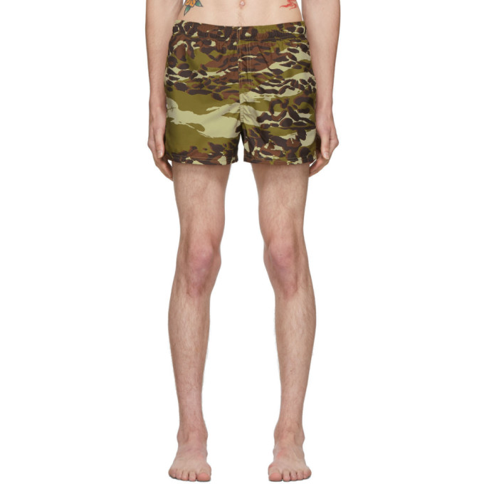 Givenchy Maillot de bain a motif camouflage kaki