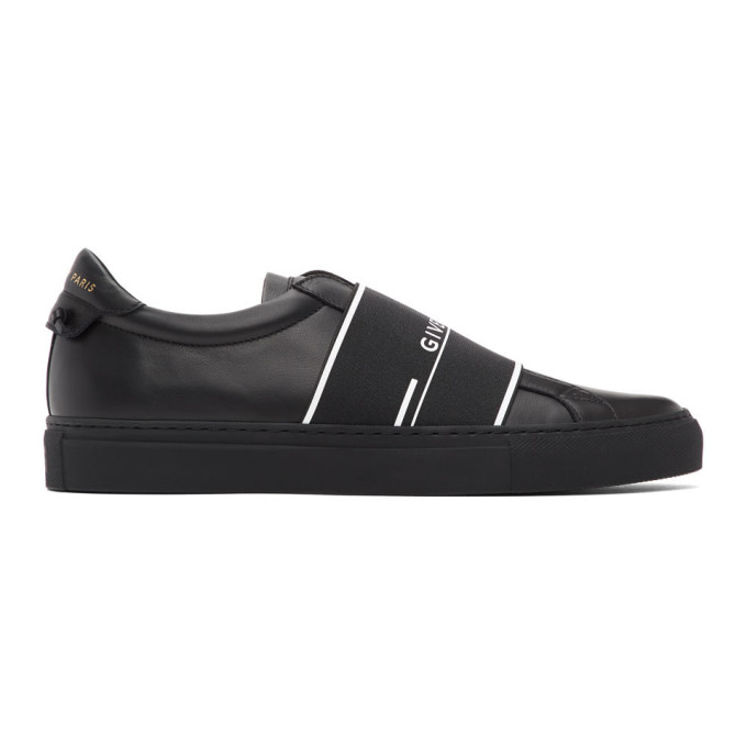 Givenchy Sneakers GIVENCHY BLACK URBAN STREET ELASTIC SNEAKERS