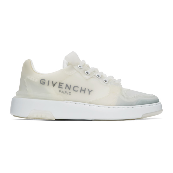 Givenchy Wing Logo-print Translucent Rubber Sneakers In 100-white