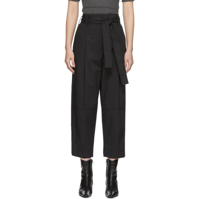 31 Phillip Lim Black Menswear Style Trousers 201283F08701102