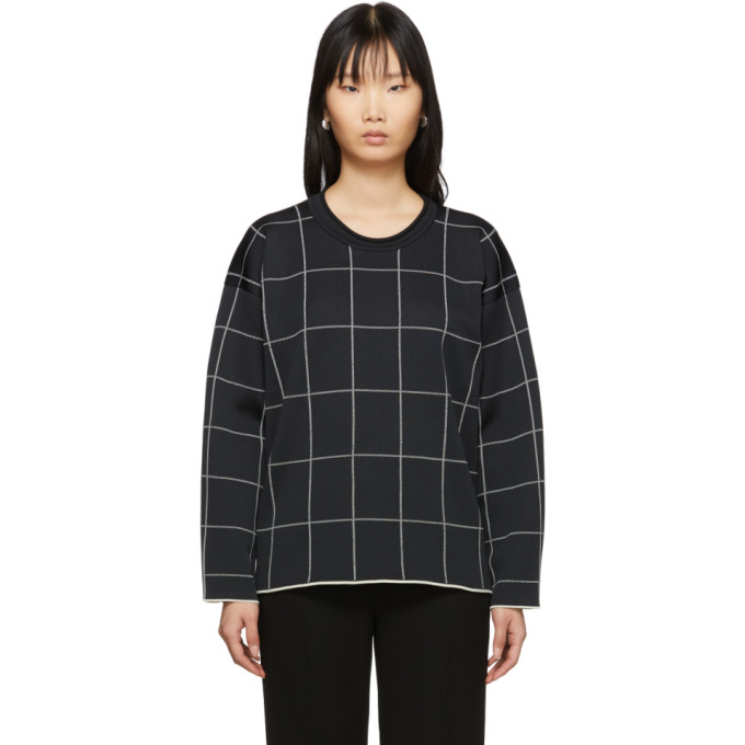 31 Phillip Lim Black Cropped Jersey Roll Pullover 201283F09807804