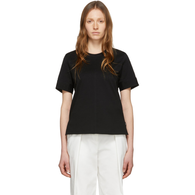 3.1 Phillip Lim T-shirt noir Snap Cuff