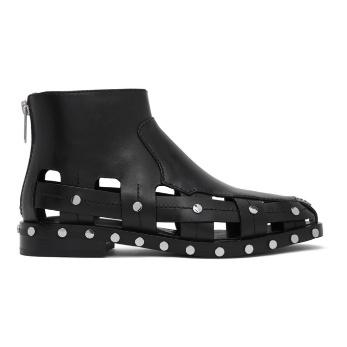 Buy 3.1 Phillip Lim Black Studded Cut-Out Alexa Boots online