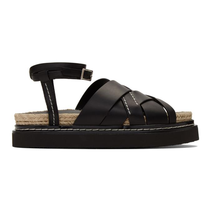 Buy 3.1 Phillip Lim Black Yasmine Platform Espadrille Sandals online