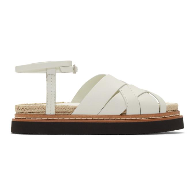 Buy 3.1 Phillip Lim Off-White Yasmine Platform Espadrille Sandals online