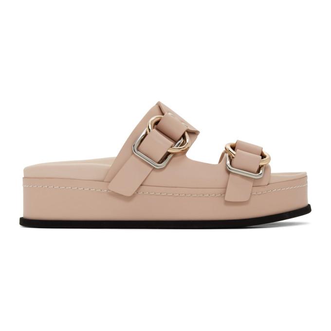 Buy 3.1 Phillip Lim Pink Freida Double Buckle Platform Sandals online