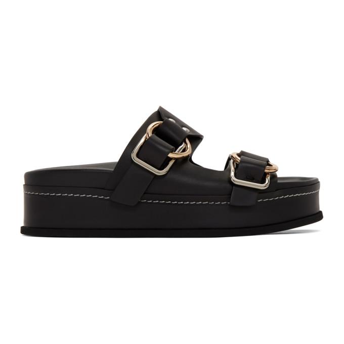 Buy 3.1 Phillip Lim Black Freida Double Buckle Platform Sandals online