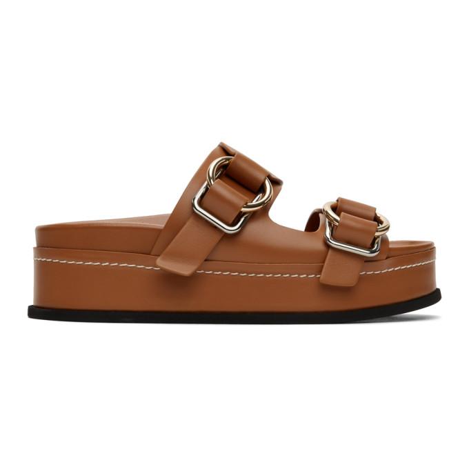 Buy 3.1 Phillip Lim Tan Freida Double Buckle Platform Sandals online